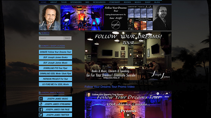 Joseph James Official Website by Joseph James